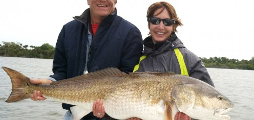 Holly Vereb of Fishers with Capt. Bob Fishers and her record catch. (Submitted photo)