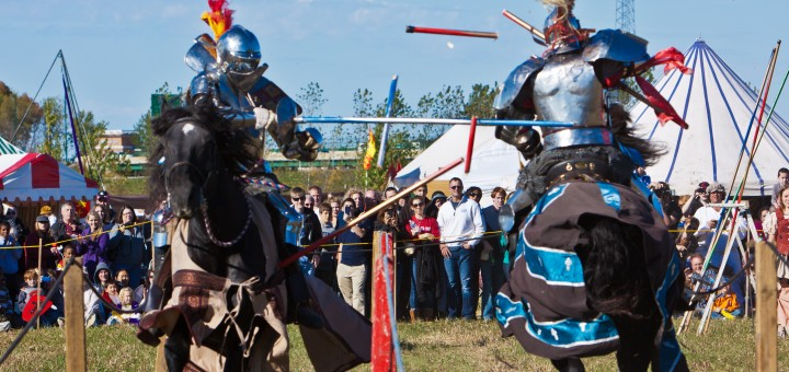 Jousting is one of the highlights of the two-day event held at Saxony Village at 131st Street and Olio Road to raise money for Sisters Cities of Fishers. (Submitted photo)