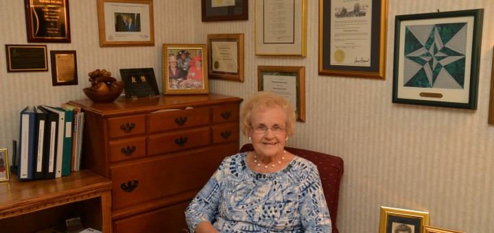 Doreen Squire Ficara sits inside her home in Carmel. (Photo by Dawn Pearson)