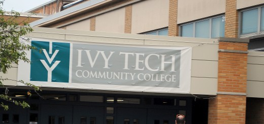 Ivy Tech Hamilton County Campus opened Aug. 25 at the former Noblesville East Middle School. Officials estimate that 1,300 students will take classes the first year and more than 3,000 in 2015. (Photo by Robert Herrington)