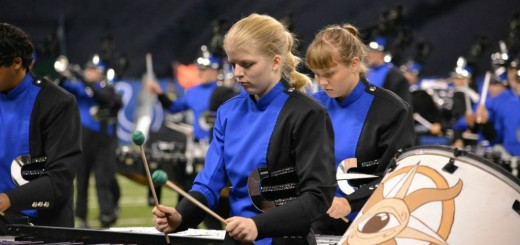 Elizabeth Chattin and Samantha Bonnet performing on their marimba and vibraphone during the BOA Indy Super Regional.