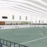 The City of Westfield has released the first inside renderings of the $25.7 million indoor sports facility at Grand Park. The proposed 372,000-square-foot facility will be built by Holladay Properties and leased to the city. (Submitted rendering)