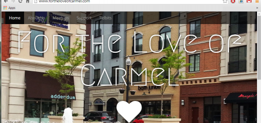 "A screen shot of the new website displays the ""For the love of Carmel"" logo. (Photo by Adam Aasen)"