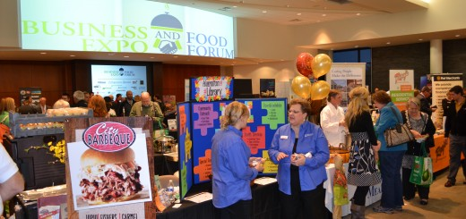 Approximately 500 people attended the second annual Business Expo and Food Forum hosted by the Fishers Chamber of Commerce at the Forum Credit Union Conference Center. (Photo by John Cinnamon)