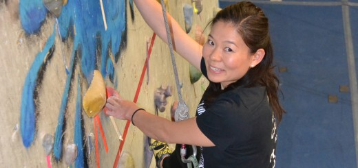 Aika Yoshida, 36, works out at Climb Time Indy. The Fishers resident recently finished second in her category in the Paraclimbing World Championship in Spain. (Photo by John Cinnamon)