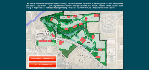 A screen shot of the new website shows maps of the developing area. (File image)