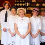 Tina Jesson, center, with her staff at Tina's Traditional Old English Kitchen in Carmel. (Submitted photo)