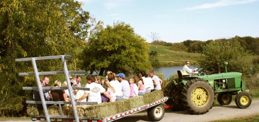 Hayrides carry Oktoberfest attendees through the farm fields at the creamery. This year's event is on Oct. 11. (Submitted photos)