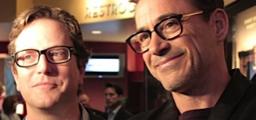 "A- List actor Robert Downey Jr. known for ""Iron Man"" and ""Sherlock Holmes"" waltzed in the theater and shocked the paying audience on Oct. 4. Current's film guru Amy Pauszek was there to meet him. (Photo by Danny Yount, of Carmel)"