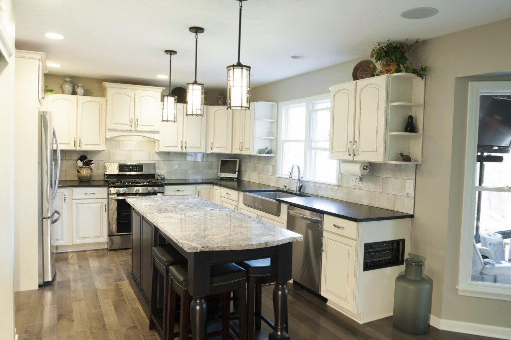 Column using cosmetic upgrades to modernize kitchen for Kitchen cabinets zionsville