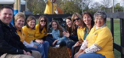Lions Club members take a ride through the park during last year's Pumpkins and Hayrides event. (Submitted photo)