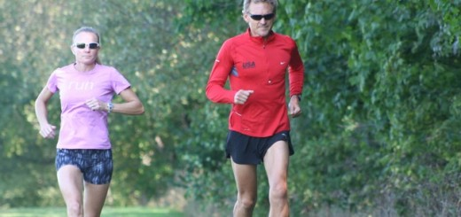 Tim Mylin, right, a teacher at Carmel High School, and Lucie Mays-Sulewski, of Westfield, train for the Nov. 8 race through Carmel. Hundreds of runners will be visiting Carmel for the race, and are seeking homes to stay in upon their arrival. (Submitted photo)