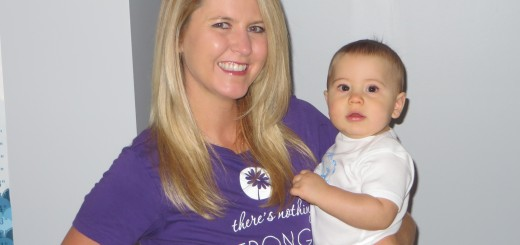 Kara Babcock holds her nine-month-old son Everett. Babcock is a teacher with Baby Boot Camp. (Submitted photo)