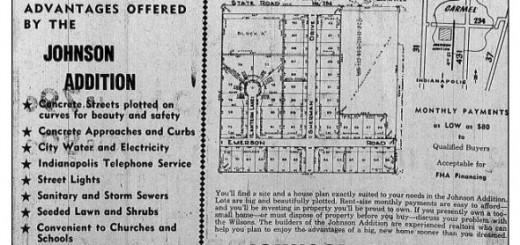An old newspaper clipping shows an ad for when Johnson Addition was first being built. (Submitted image)