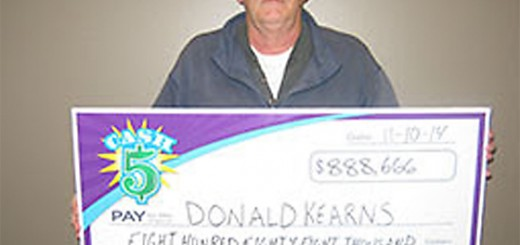 Donald Kearns of Westfield won Nov. 8's record $880,000 Hoosier Lottery Cash 5 jackpot after purchasing the ticket at Kroger, 150 W. 161st St., Westfield. (Submitted photo)