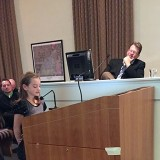 """Washington Woods Elementary fourth grader Charlotte Greer explains to the Westfield City Council how """"The 7 Habits of Happy Kids"""" has impacted her life. (Submitted photo)"""