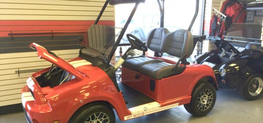 This is just one of the Ford golf carts that people can rent or purchase. (Submitted photos)