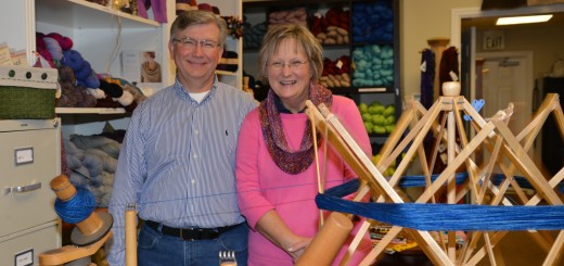 Terry and Harriett McNabb own The Village Yarn Shop. (Photo by Dawn Pearson)