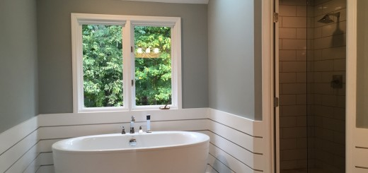 Freestanding tubs are growing in popularity because of their elegant and airy look. (Submitted photo)