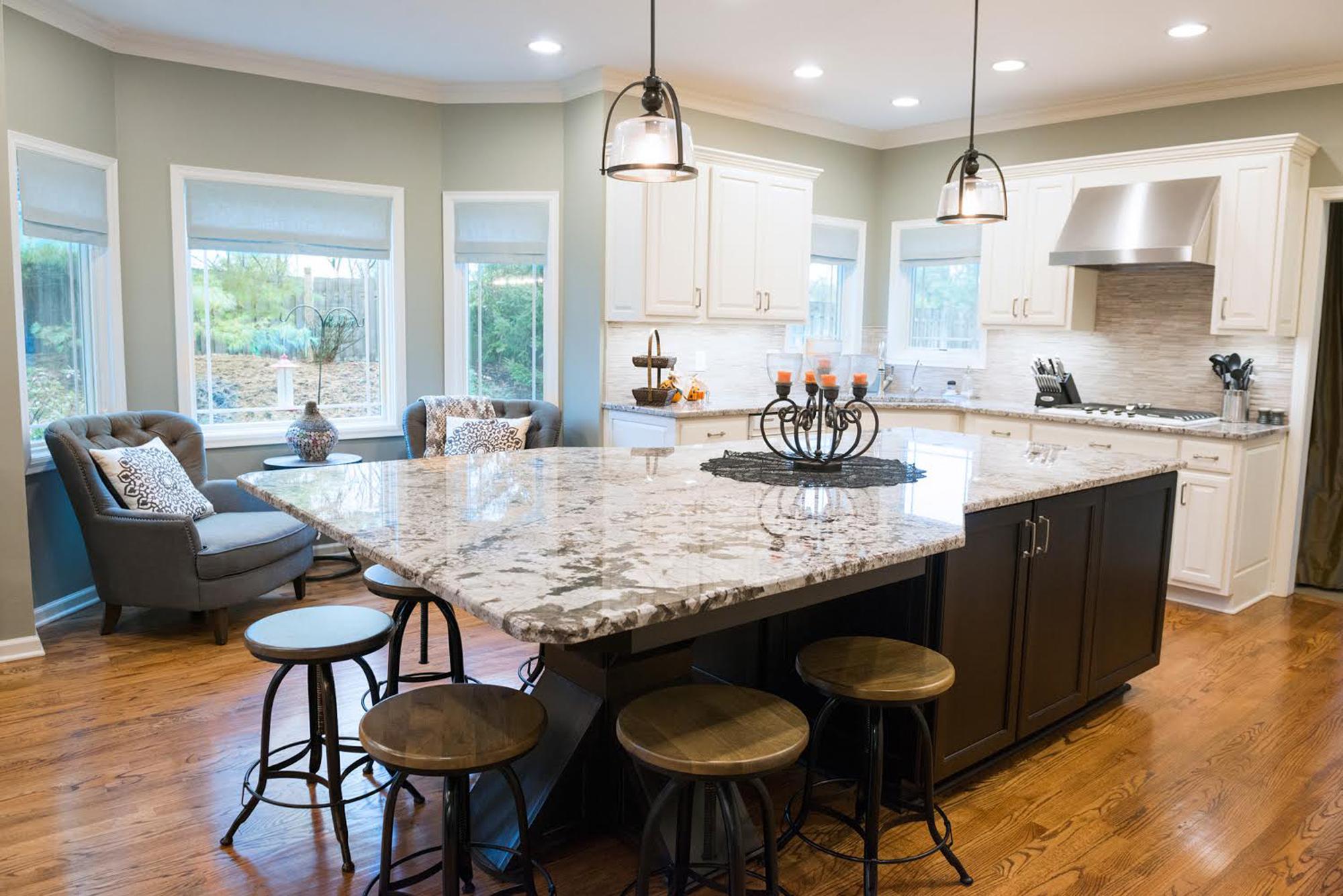 Column: Cabinet modifications, warm colors transform a kitchen ...