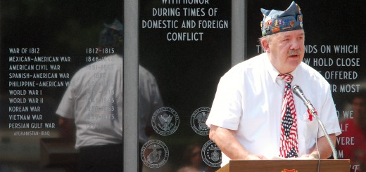 Ron Wilson leads a Memorial Day ceremony at Riverside Cemetery in Noblesville. (File photo)