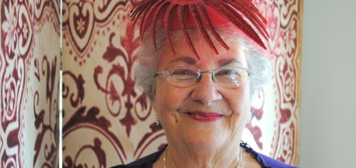 Lorraine Bonewitz is the Queen Mum of Carmel's Red Hat Society. (Photo by Mark Ambrogi)