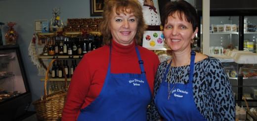 Tatiana Anguelova and Mariana Raibulet at their Fishers store. (Photo by Mark Ambrogi)