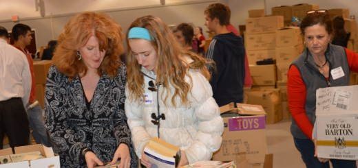 Fishers residents Clarice and Kieran McCauley organized donations