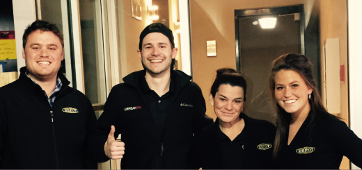 From left, Regional Manager Michael Collins, resident Kaleb Walker, Property Manager Crystal Gray and Assistant Manager Lizzy Robertson at The Depot. (Submitted photo)