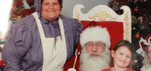 Diana Peyton and her granddaughter, Madison, visit Santa Claus while enjoying the festivities of Westfield in Lights on Dec. 6. (Submitted photo)