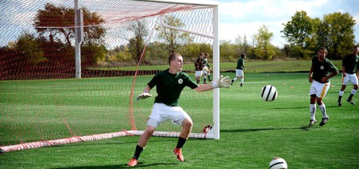 U17B Gold team's Evan Seitz of Westfield High School plays goalie during a Westfield Select Soccer Club practice at Grand Park. (File photo)