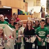 Members of the Oak Trace Elementary Student Council visit Riley Hospital for Children at IU Health North. From left, front row: Hailey Fekete, Grace Feltz, Jackson Gilbert, Anthony Sulewski and Lane Nichols; back row: Natalie Loring, Katie Wolf, Lauren Moore, Brooke Dunkin, Sydney Kinglesmith, Marissa Koshnick, Rylee Blake and Kate Kujawa; and Gracie Gumino, eighth-grader, stands in very back. (Submitted photo)