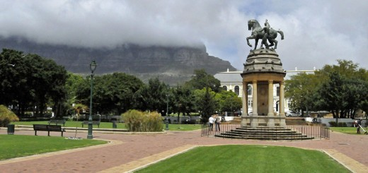 Cape Town's Table Mountain from Company's Garden. (Photo by Don Knebel)
