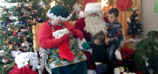 Mrs. Claus and Santa meet with children to hear Christmas wishes and take photos last year.
