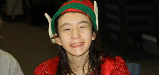 Sydney Conn, of Carmel, enjoys Central Christian Church annual holiday party. (Submitted photo)