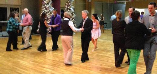 Celebrity dancers and their professional ballroom dance instructors take in their first lesson in preparation for the competition on March 13, 2015 at the Indiana Roof Ballroom. (Photo by Terri Spilman)