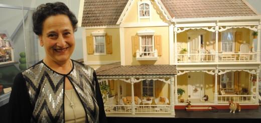 Elaine Mancini inside the museum. (Photo by Mark Ambrogi)