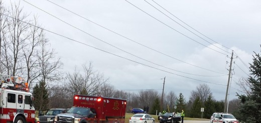 Scott Prince took a photo of this traffic accident with injuries outside of his home near 116th Street and Hoover Road on Dec. 23. He said the dips in the road, combined with the 40 mph speed limit, make it difficult to see cars turning in and out of driveways. (Submitted photo)