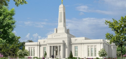 A rendering of the new Mormon temple. (Submitted image)