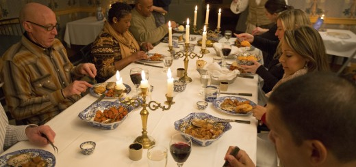 Interpreters participate in a Hearthside Supper evening. (Submitted photo)