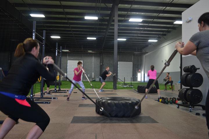 Lauren Kloepfer takes 300 Fit classes. (Photo by Dawn Pearson)