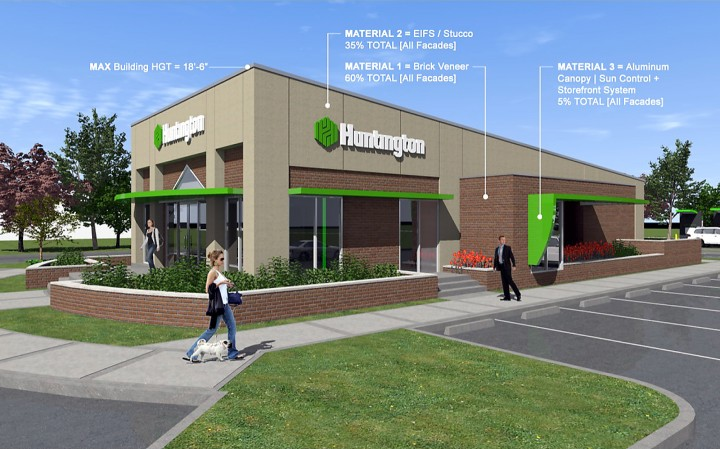 A rendering of the new bank. (Submitted photo)