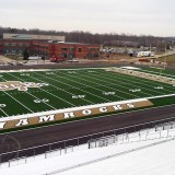 The new community stadium should open this spring and one of its first major events scheduled in the out- door commencement ceremony of Westfield High School in June. (Submitted photo)