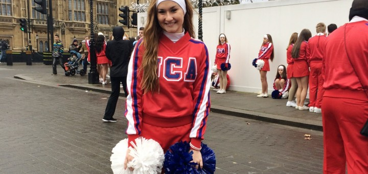 Westfield High School junior Jensen Bailey was one of 255 All-American cheerleaders that participated in the New Year's Day parade in London. (Submitted photo)