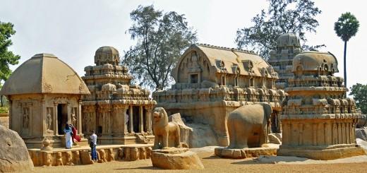 Pancha Rathas Shrines in Mamallapuram, India (Photo by Don Knebel)