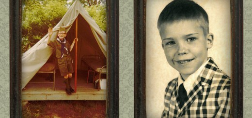 (Left) Jim Brainard as a scout, (right) Rick Sharp as a young boy. (Photo Illustration by Zach Ross)