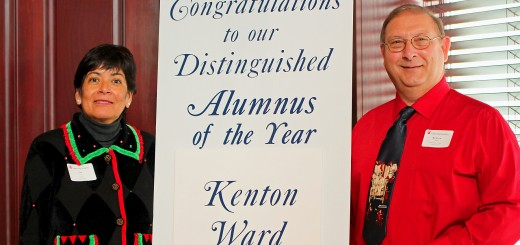 Liz Tate, Hamilton County Leadership Academy board president, and Kenton Ward, distinguished alumnus. (Submitted photo)