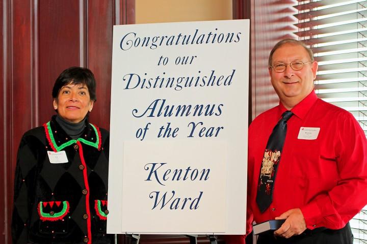 Liz Tate, Hamilton County Leadership Academy board president, and Kenton Ward, distinguished alumnus. (Submitted photo)