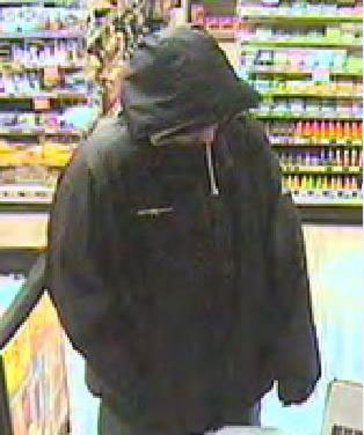 Surveillance image shows the man who robbed a Speedway gas station in Westfield on Feb. 8. (Submitted photo)