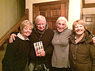 Hoosier author Dan Wakefield (second from left), joins Christy Tidwell, Carol Saviano and Ellen Leffler at the Ladies of the Club meeting Jan. 7. (Submitted photo)
